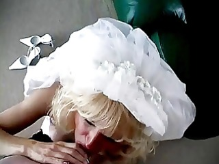 milf bride oral pleasure and facial.