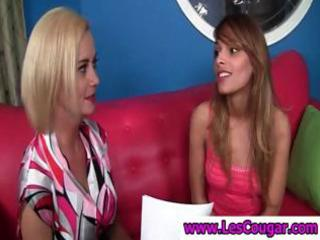 mother i lesbo undresses and plays with hawt coed