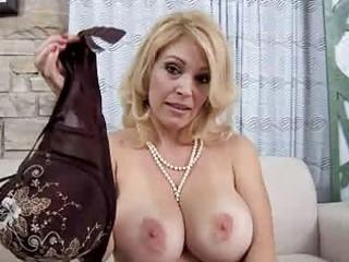 mamma with giant natural tits sucks jock pov