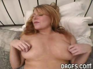 busty milf gets her wet crack toyed and her ass