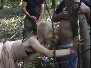 french horny granny gangbanged outdoors