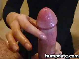 spouse acquires nice and teasing cfnm handjob