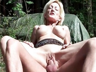 breasty blonde granny receives drilled by a young