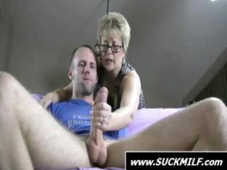 golden-haired milf give this guy with a large