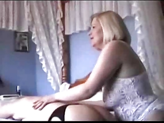 two grannies in underware and nylons