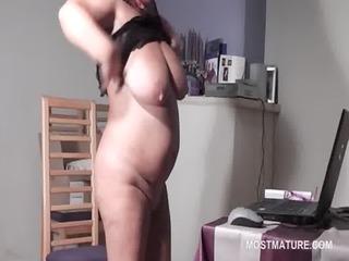 big beautiful woman older sweetheart masturbating