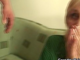 granny drilled by football fans