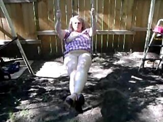wife on swing