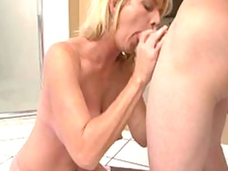 priceless milf after shower