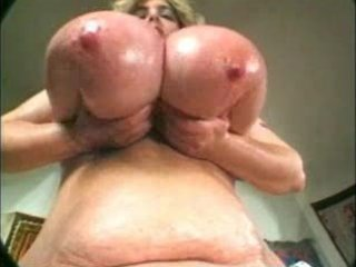 overweight granny with fatty boobs