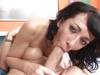 tigth wazoo brunette hair momma with large