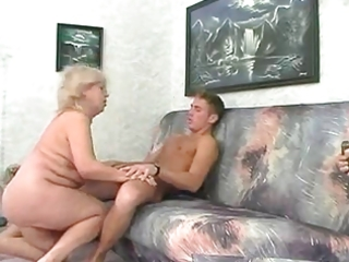big beautiful woman blonde granny fucks with