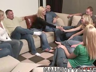 party game leads to a biggest orgy swinger wives