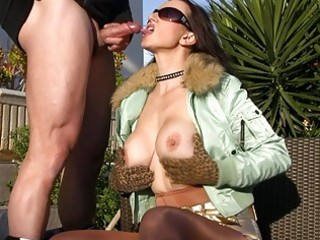 outdoor blowjobs with sexy breasty milfs