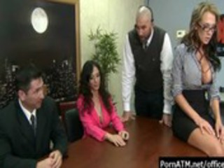 bigtitsatwork - hawt office milfs getting coarse