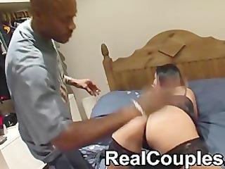 black dude sensi spanks then licks a smaller