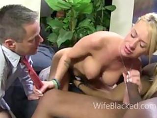 cuckold wife prefers darksome knob whilst shamed