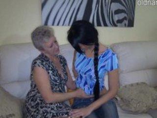 granny and juvenile girl