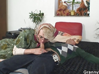 naughty grandma gives up her cum-hole