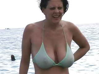 sexy mother i in bikini at the beach