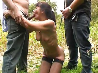 french older outdoor team fuck
