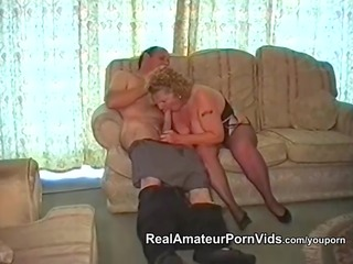a bulky granny has sex with her spouse