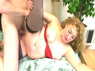 hot bulky granny in act