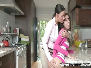 hot breasty stepmom teaches her stepdaughters