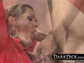 white cougar wife takes on large black knob