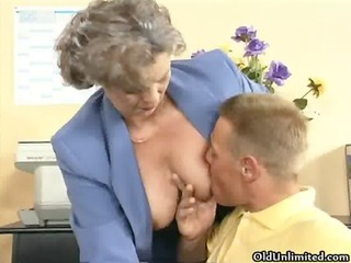impure old woman getting her curly vagina