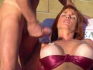 outdoor redheaded cum eater