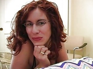 rod loving redhead mother i with glasses acquires