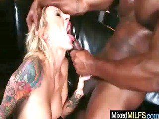 hardcore interracial sex with hot breasty milf