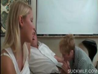 blow job sex with lewd mama and legal age teenager