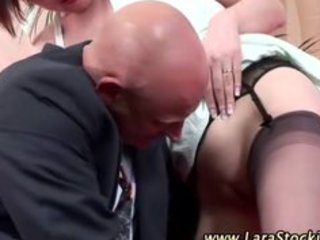 aged stocking oral wet crack licking couple