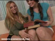 breasty mamma teaching legal age teenager how to