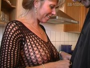 hot german mom in fishnets makes him cum in in
