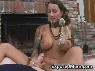 round bigtits tattooed mommy fireplace