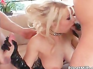 naughty golden-haired milf with pierced pussy