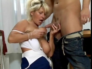 priceless hirsute golden-haired mature