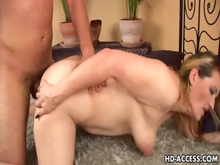 perverted mature honey drilled from behind