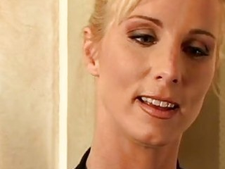 marvelous blond milf with curly bawdy cleft