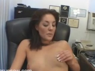 brunette milf bobbie fingering and toying in the