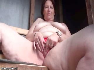 filthy mature slut receives horny finger part8