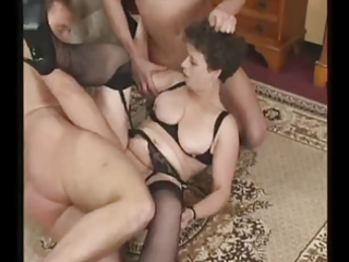 mature milf in nylons tries three ramrods