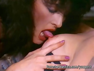 106s vintage lesbian act with two excited chicks