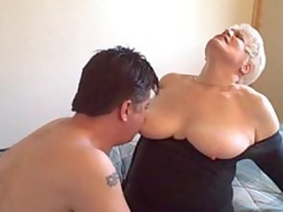 hot golden-haired curvy dilettante granny banging