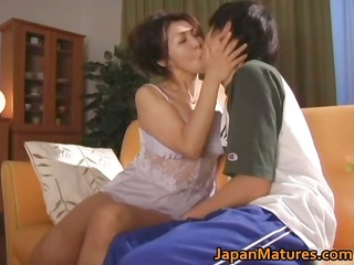 slutty japanese older babes engulfing