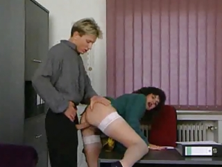 older secretary receives drilled