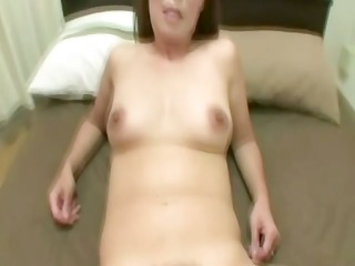 shaggy asian cougar is engulfing a dick